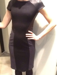Georges Rech Leather Trim Dress