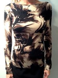 Blumarine Embroidered Print Sweater
