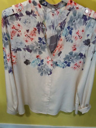 Paul & Joe Flora Silk Print Top