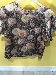 Paul & Joe Flower Embroidered Top