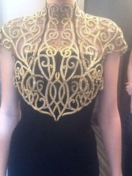Christian Siriano Filigree Bolero Collar