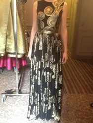 Christian Siriano Embroidered Maxi Gown