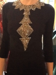 Naeem Khan Jewel Neck Sweater