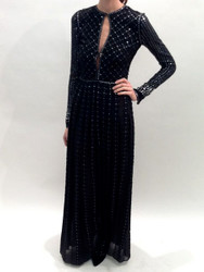 Rena Lange Beaded Long Dress