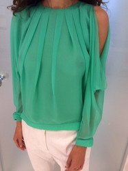 Blumarine Green Blouse