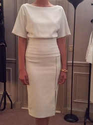 Amanda Wakely White Short Sleeve Dress