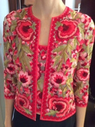 Naeem Khan Floral Sweater