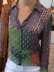 Plein Sud Multi-Color Blouse