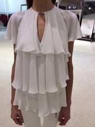Plein Sud White Layered Blouse
