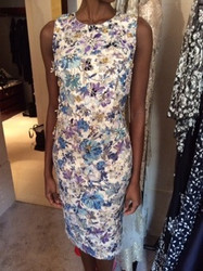 Badgley Mischka Floral Pattern Dress