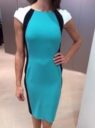 Clips Teal Knee Length Dress