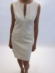 Rena Lange White Sleeveless Dress