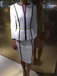Escada White Jacket and Skirt