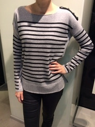 Georges Rech Gray Striped Sweater
