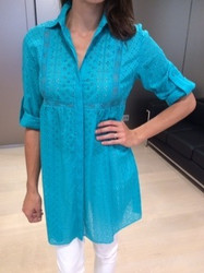 Clips Teal Long Blouse