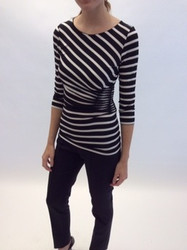 Rena Lange Zebra Striped Top With Belt