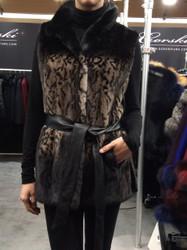 Gorski Sleeveless Patterned Fur