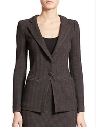 Armani Collezioni Herringbone Two-Button Jacket