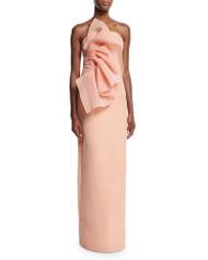 Christian Siriano Wild Flower Strapless Column Gown