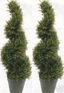 2 TOPIARY ARTIFICIAL IN OUTDOOR ROSEMARY TREE 3' PLANT