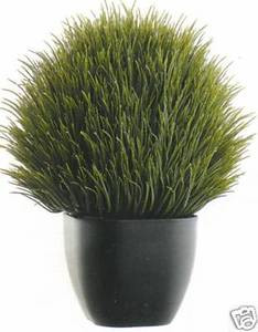 One 13 inch Artificial Thistle Topiary Grass Ball