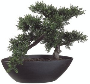 145 inch artificial cedar bonsai topiary tree