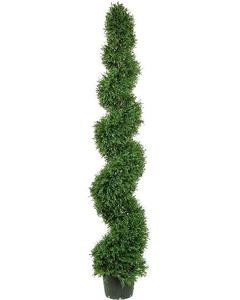 6 foot Artificial Rosemary Spiral Topiary Tree Potted Indoor/Outdoor
