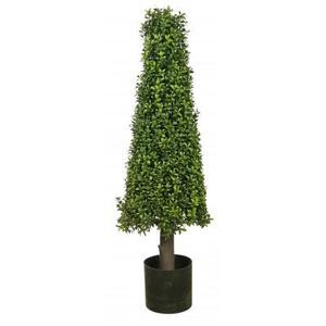 40 inch Artificial Boxwood Cone Tower Topiary Tree Potted Indoor/Outdoor