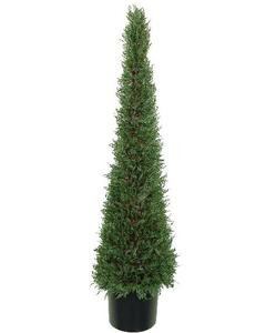 4 foot Artificial Cedar Cypress Cone Tower Topiary Tree Potted Indoor/Outdoor