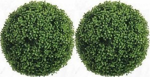 Outdoor Artificial Boxwood Topiary Balls 19 inch Two