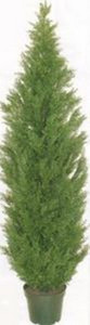 One 9 foot Artificial Cedar Topiary Tree Potted UV Rated Cypress Pine