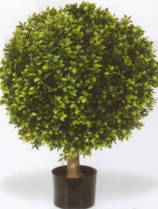Artificial Boxwood Ball Bush Potted 32 inch One