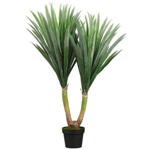 One 43 inch Indoor or Outdoor Artificial Yucca Palm Tree Potted Plant