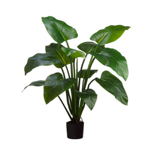 One 4 foot Outdoor Artificial Eva Curcuma Palm Tree Potted Plant