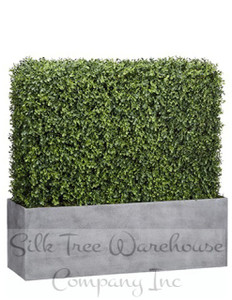 One 30 inch Tall 30 inch Wide Outdoor Artificial Boxwood Topiary Hedge UV Rated Plant
