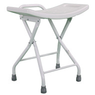 Steel Folding Shower Chair Seat Stool Compact Lightweight Carry Handle