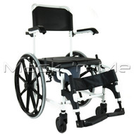 Self-propelled Commode Shower Chair Aluminium Fold-up Footrest Wheels Padded