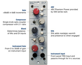 Rupert Neve Design - 517 Mic Pre / DI / Compressor with Vari-phase