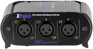 ART - X Patch Three Channel XLR Balanced Patch Bay
