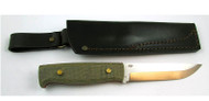 EnZo Camper Knife Kit, Green Canvas Micarta