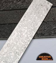 Carbon Steel Ladder Damascus Billet, 57 HRC, 3 x 30 mm