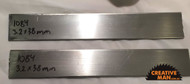 Each billet of carbon steel is 3.2 mm thick, about 38 mm wide and 240-250 mm long.