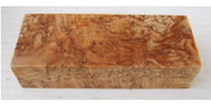 Curly Birch Handle Block, Extreme Grade, Stabilised
