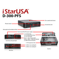 iStarUSA D-300-PFS iStarUSA 3U with Plastic door