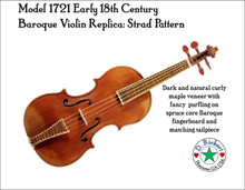 Model 1721 Early 18th Century Baroque Violin