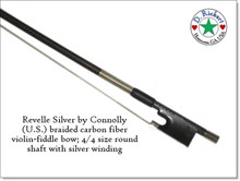 Revelle Silver Phoenix braided carbon fiber violin or fiddle bow
