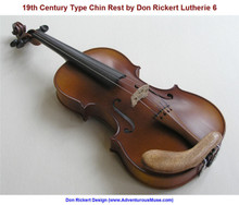 19th Century-Type Violin Chin Rest by Don Rickert Lutherie