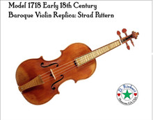 Model 1701S Stradiveri Early 18th Century Baroque Violin by Don Rickert Musician Shop ( D. Rickert Musical Instruments )