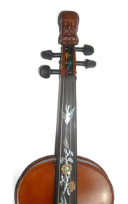 Rickert Philosopher King Fiddlers Convention 2015 Special Edition Fiddle by D. Rickert Musical Instruments (front detail)