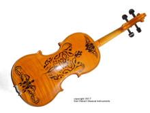 Custom Maui Tribal Tattoo Fiddle (back view 1)
